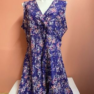 Plus Size Silk sleeveless dress. 2x